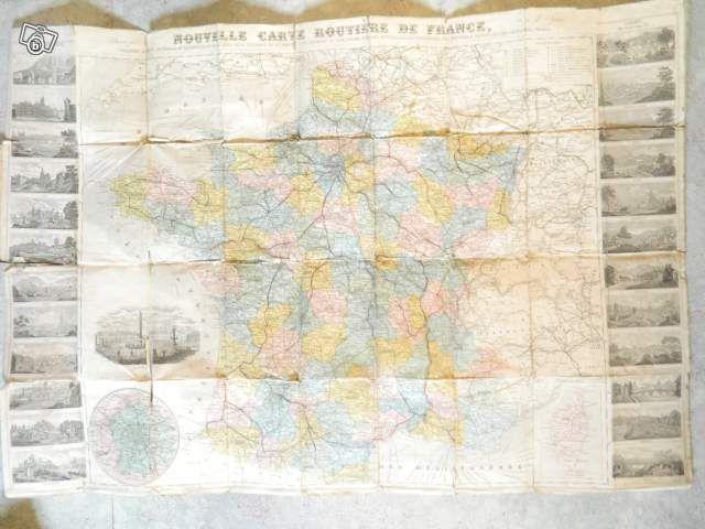 Carte routiere de france d'avant 1858