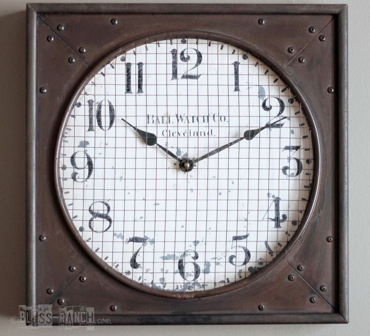 Restoration Hardware inspired Clock Knock Off 33 best