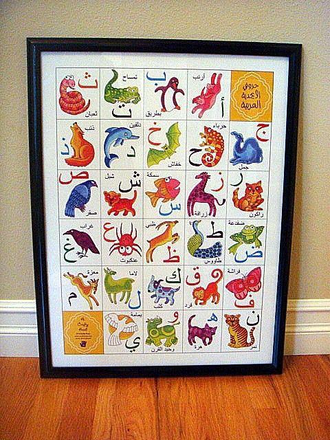 Alphabet Animal Poster in Arabic by A Crafty Arab on Etsy