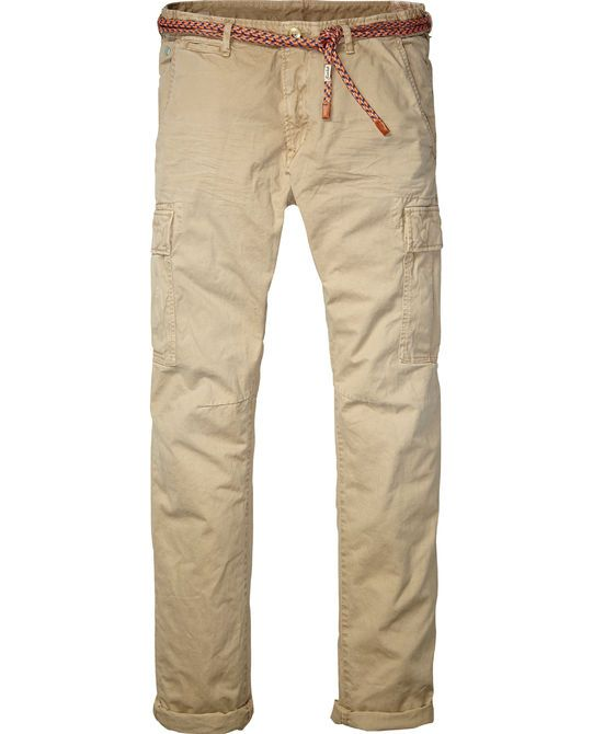 relaxed slim fit cargo pants