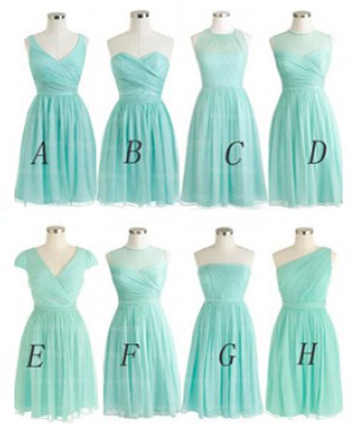 Tiffany blue bridesmaid dress, short bridesmaid dress ,cheap bridesmaid dress ,chiffon bridesmaid dress , popular bridesmaid dress ,custom bridesmaid dress ,17101
