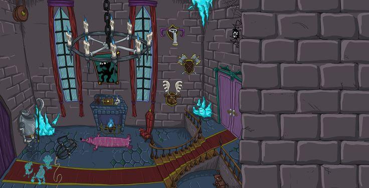 Antigos castelos assombrados fazem parte da rotina das penumbras, criaturas que habitam o Sonho das Sombras Sussurrantes.