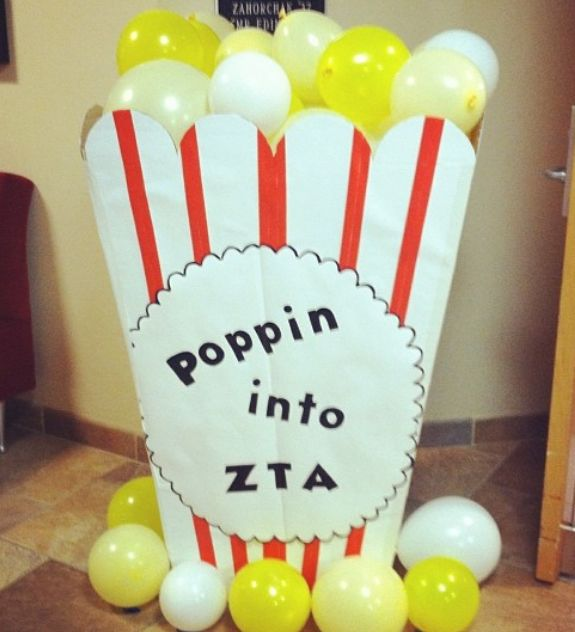 Pop in and learn more about ZTA. Adorable decoration idea for a recruitment event!