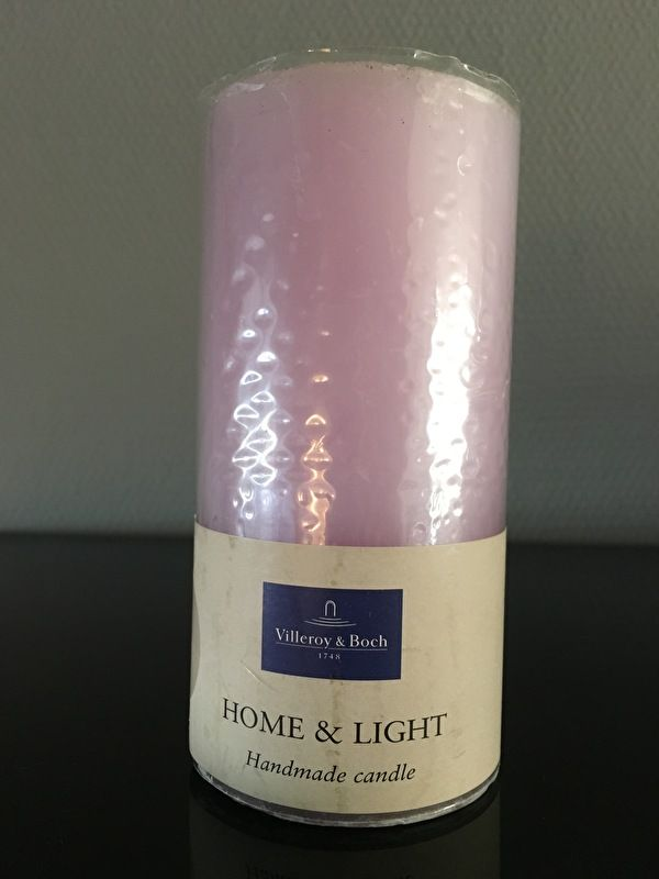 Villeroy & Boch Essent. Candles mauve pillar 7 x 14 cm