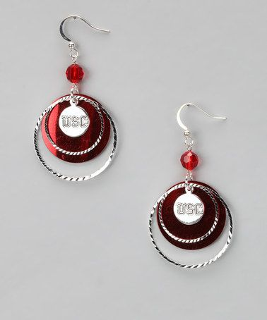 Take a look at this USC Trojans Game Day Earrings by LogoArt on #zulily today!