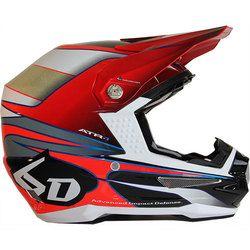 6D Atr-1 Hornet Motocross Helmet - Red Black - 2014 6D Motocross Helmets -
