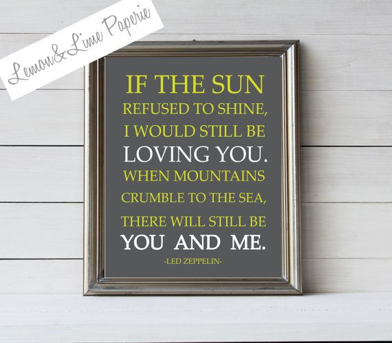 Led Zeppelin Lyrics  Thank You  Personalized by LemonLimePaperie, $7.00