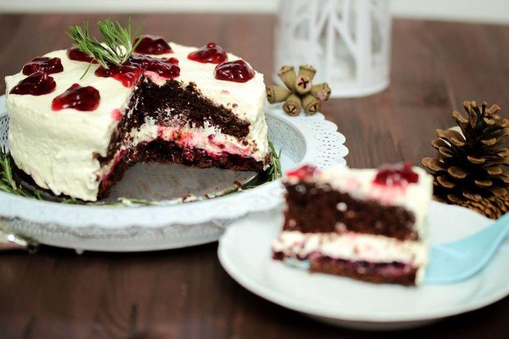 Adventskalendertürchen Nr.16 - Schokoladen-Glühweintorte mit Preiselbeeren - Sasibella