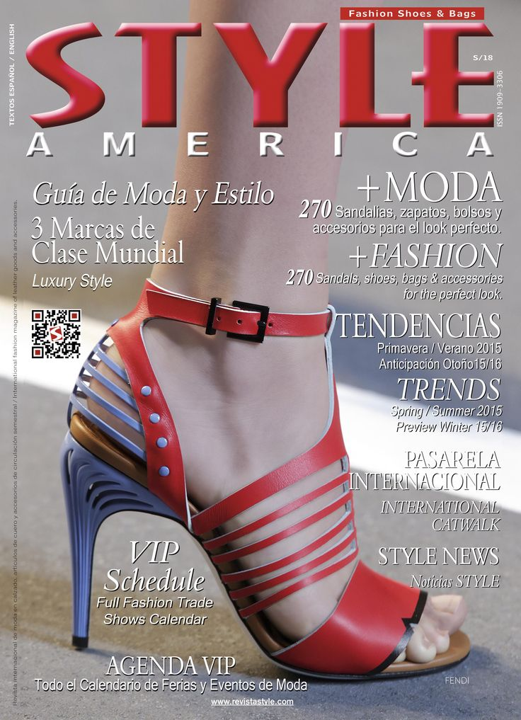STYLE AMERICA Fashion, Shoes & Bags Issue #18. Cover FENDI, italy.