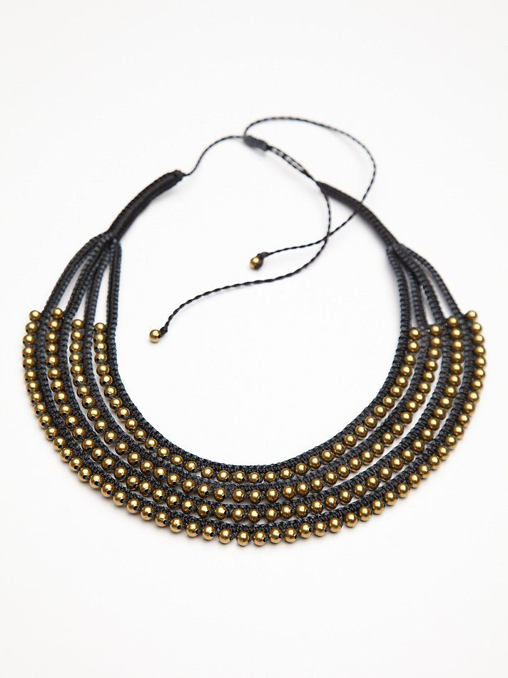 Paulina Barcelona Noir Massai Necklace at Free People Clothing Boutique