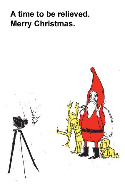 イラスト「クリスマス ポストカード サンタクロース 手描き 手書き ラフスケッチ」サトウユウ|イラスト無料素材のイラスト屋さん(イラスト発注、イラストレーター募集も)
