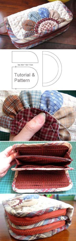 Accordion Wallet. Patchwork and Quilted Sewing Projects. DIY Photo Tutorial and Pattern. http://www.handmadiya.com/2015/12/accordion-purse-wallet-tutorial.html