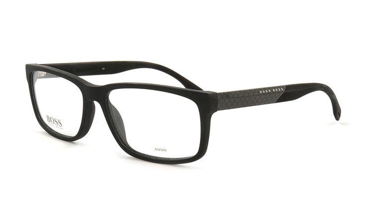 Herrenbrille von Hugo Boss 836 HXE 58 Schwarz Matt. Bei Brille Kaulard online günstig kaufen.