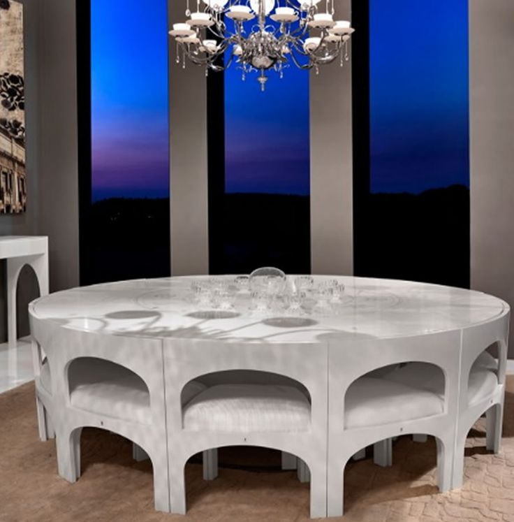 Superb Modern Dining Table Design For Dining Room Furniture, Coliseum Stainless  Steel Collection By Nella Vetrina