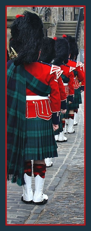 The picture is of the 'Band of the Royal Regiment of Scotland', based in Edinburgh. A military band consisting of currently serving soldiers.