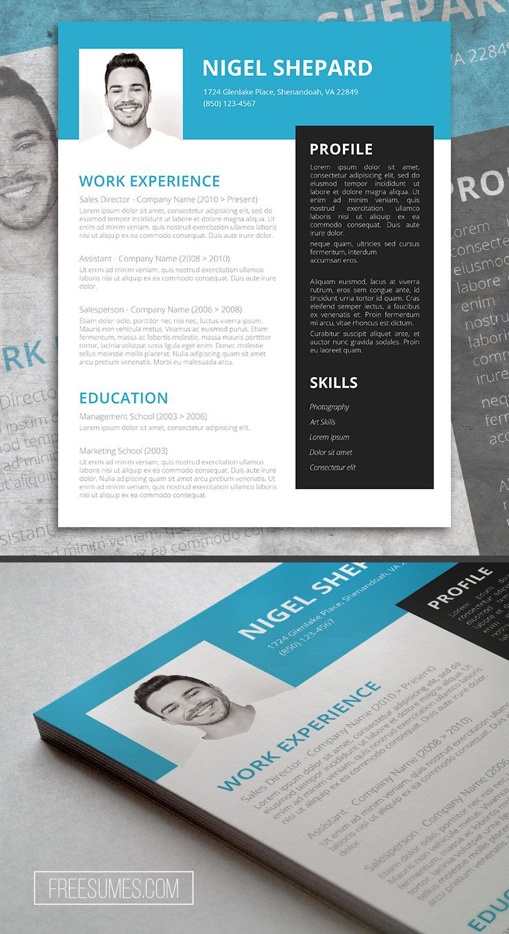 Bright Sky Free Resume Templates For Word Pinterest Free