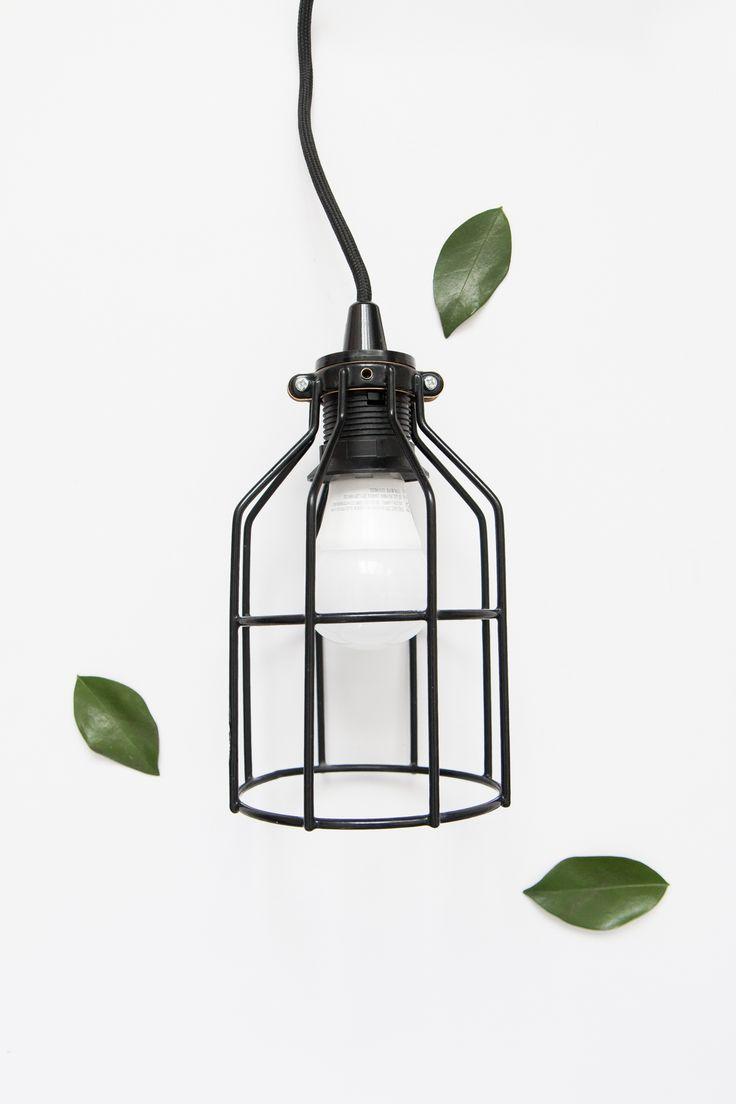 Make your own beautiful minimalist light fixture.