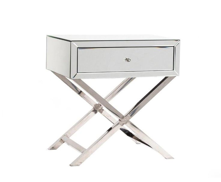 """Зеркальный столик Hollywood, из серии """"Зеркальная мебель"""".             Метки: Журнальный стол.              Материал: МДФ, Зеркальное стекло.              Бренд: DG Home.              Стили: Арт-деко.              Цвета: Светло-серый."""