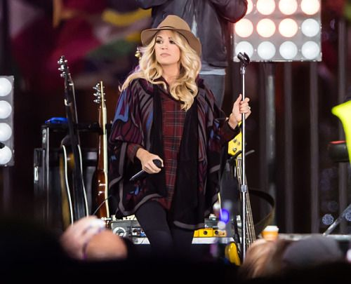 Carrie performing on the Today Show Concert Series earlier this morning!