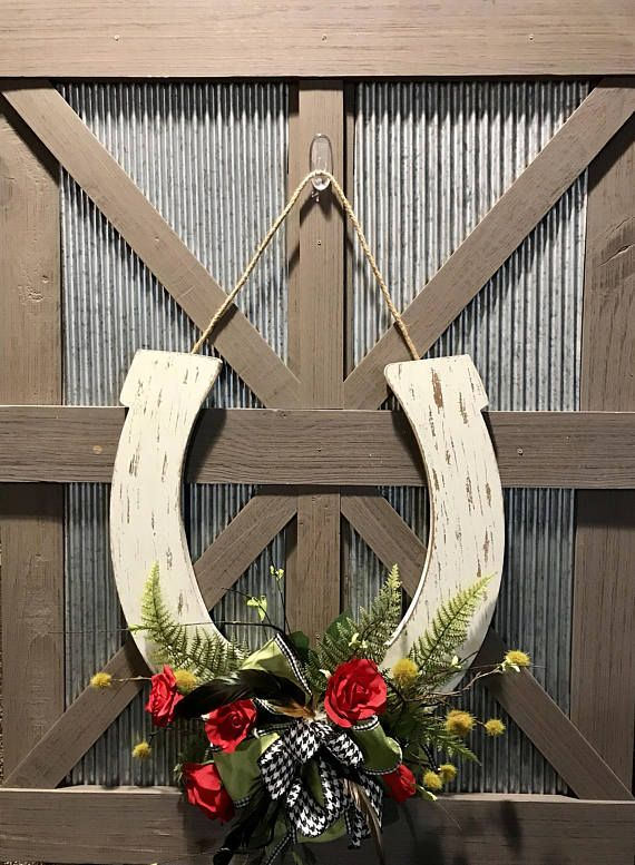 Derby Wreath Kentucky Derby Horseshoe Wreath Derby Door Hanger