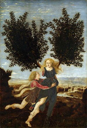 The Laurel Tree- Apollo and Daphne-The curse of Apollo, the god of the sun and music, was brought onto him when he insulted the young Cupid for playing with bow and arrows.