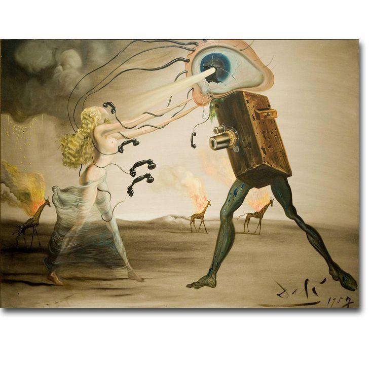 QUEIMA de GIRAFAS E TELEFONES de Salvador Dali Arte Seda Cartaz Impressão 13x18 24x32 polegadas Surrealista Abstrato Imagem para a Decoração Da Parede 10