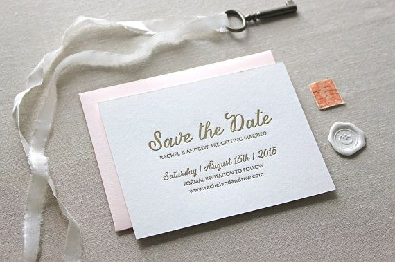 Letterpress Save the Date // CHATHAM & CARON letterpress studio // www.chathamandcaron.com  //  Letterpress Invitations, Letterpress Wedding Invitations, Classic, Modern, Calligraphy, Wedding Invitations, Elegant, Monogram Invitation, Natural, Rustic, Script, Pretty, Timeless, Affordable, Floral