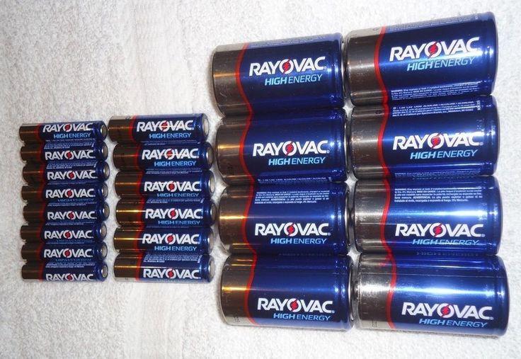 Bulk of 22 Rayovac High Energy Alkaline Batteries AA, AAA and D Brand New #Rayovac