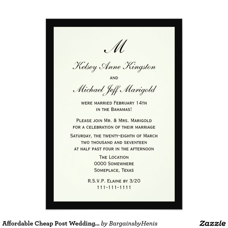 20 best invitation wording images on pinterest invitation wording affordable cheap post wedding reception cream card invitation wordinginvitation stopboris Gallery