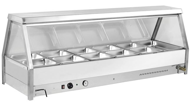 Minox DM64-12 Stright Glass Bain Marie - Hot Food Display & Bain Marie - Kitchen & Catering Equipment