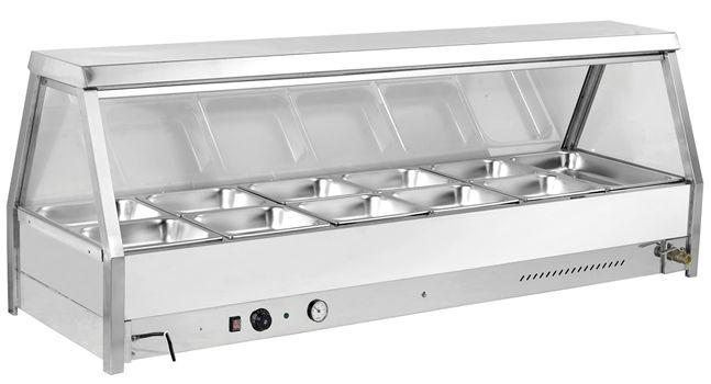 Minox DM64-12 Stright Glass Bain Marie - Hot Food Display & Bain Marie - Kitchen & Catering Equipment