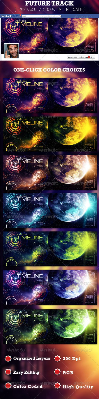 Future Track Facebook Timeline Cover Template — Photoshop PSD #facebook profile #timeline design • Download here → https://graphicriver.net/item/future-track-facebook-timeline-cover-template/2084395?ref=pxcr