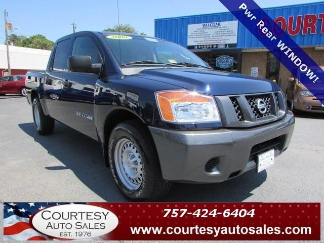 2008 NISSAN TITAN -- CREW-CAB! -- LOOKS And DRIVES GREAT!....In NAUTICAL-BLUE! -- Price INCLUDES A 3 MONTH/3,000 Mile WARRANTY! -- CALL TODAY! * 757-424-6404 * FINANCING AVAILABLE! -- Courtesy Auto Sales SPECIALIZES In Providing You With The BEST PRICE On A USED CAR, TRUCK or SUV! -- Get APPROVED TODAY @ courtesyautosales.com * Proudly Serving Your USED CAR NEEDS In Chesapeake, Virginia Beach, Norfolk, Portsmouth, Suffolk, Hampton Roads, Richmond, And ALL Of Virginia SINCE 1976!