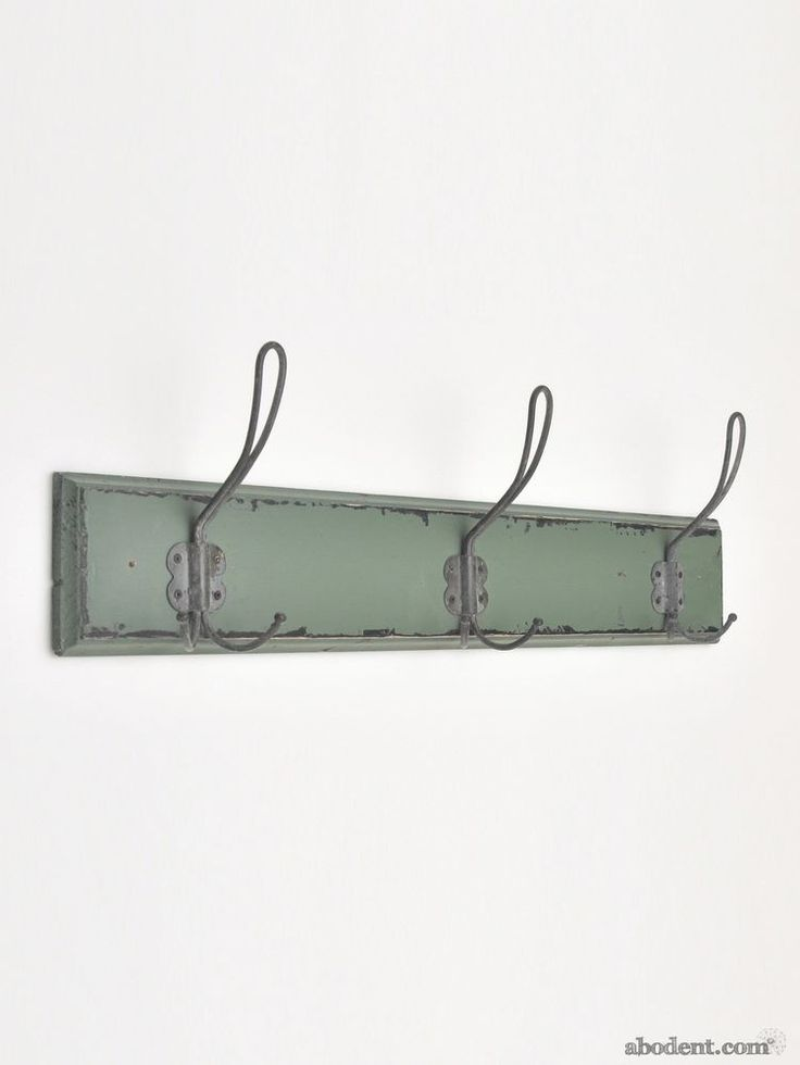 Small Green Weathered Coat Racks, Small Worn Painted Coat Racks, Small Aged Wall Racks, Antiques Coat Racks, Small Green Painted Wood With Metal Hooks. Jungle Brush Coat Rack - Small. Rubbed and rustic around their outlying areas, these jungle green coat racks show wear as if caused by years of exposure to the elements. | eBay!