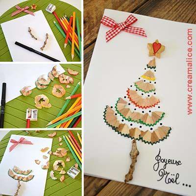 diy-carte-sapin-Noel-epluchures-crayons