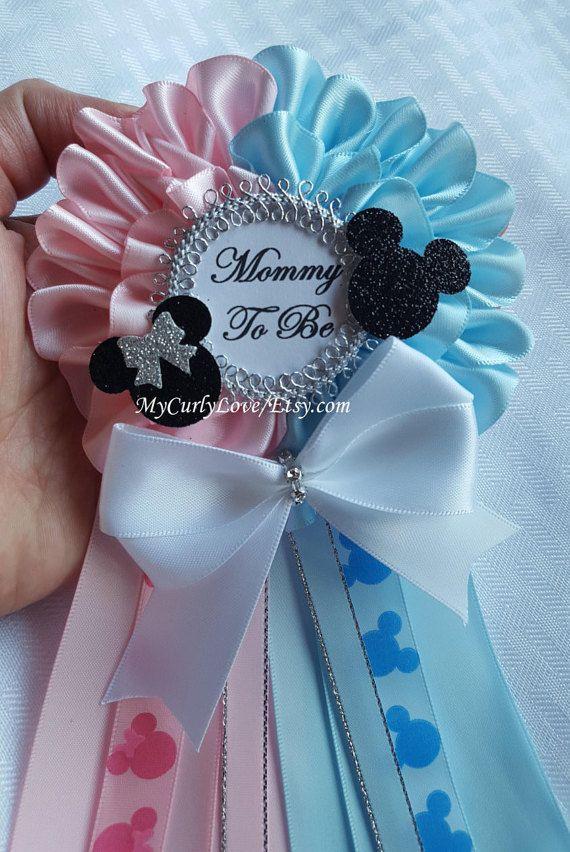 Minnie-Mickey gemelos bebé ducha mamá que por MyCurlyLove en Etsy