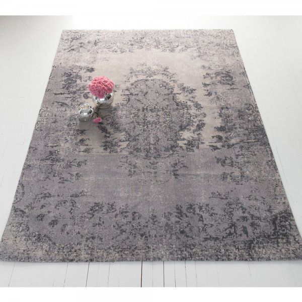 Kilim Vintage Rug in Grey | French Bedroom Company