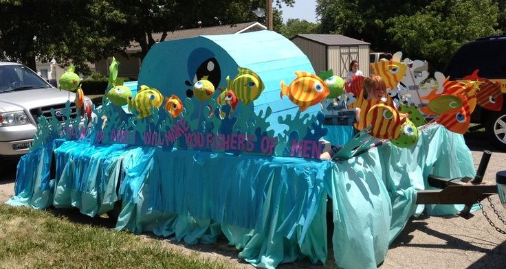kids parade float ideas | Photo Parade Float - Free to be Fishers of Men - Shannon Christensen