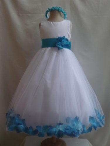 3f2cfdd62c9 White Turquoise Flower Girl Dresses