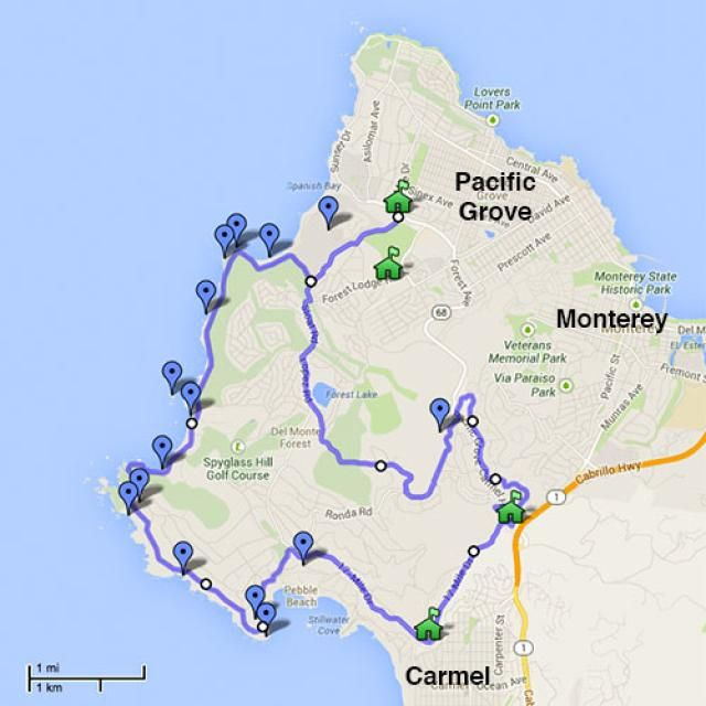 17 Mile Drive Map Pdf What Should You Stop to See on Carmel's 17 Mile Drive? in 2019