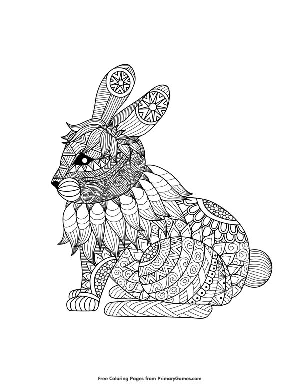 779 best Free Colouring Pages images on Pinterest Coloring books - best of bunny rabbit coloring pages print