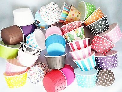 Pleated #cupcake cases muffin cases polkadot #striped baking cups mega #listing!!,  View more on the LINK: http://www.zeppy.io/product/gb/2/321516963110/