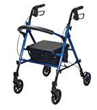 Drive Medical Adjustable Height Rollator with 6 Inches Wheels, Blue disability awareness ** This is an Amazon Associate's Pin. Find out more from the website by clicking the VISIT button.