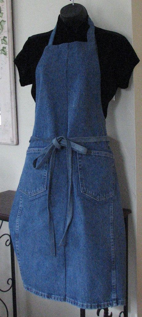 Denim Apron Upcycled Jeans Apron Craft Apron by SimpleJoysofLife