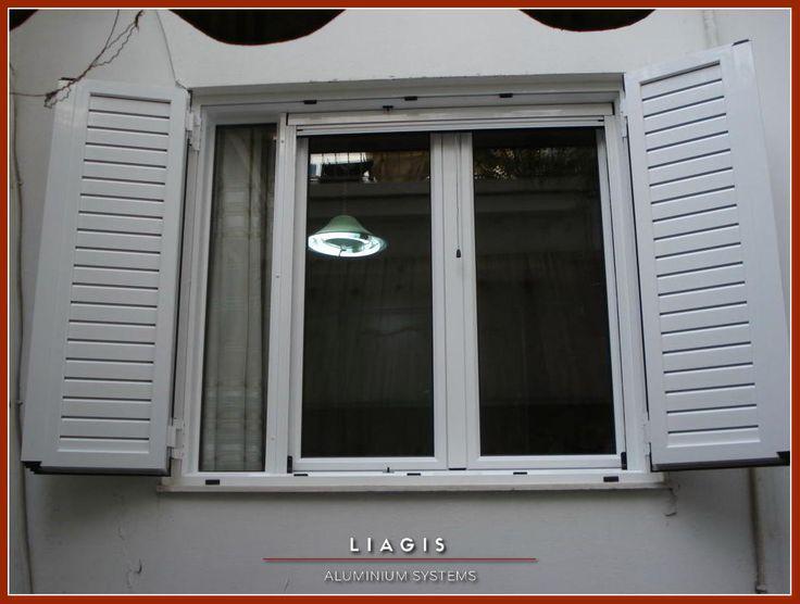 Ανοιγόμενο παράθυρο με σταθερό και παντζουριού αλουμινίου