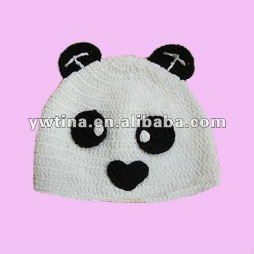 Lindo!! El diseño de oso panda baby crochet sombrero/bebé sombrero ...