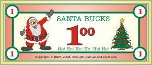 #8 - One of My Family's Favorite Holiday Traditions...Instead of exchanging gifts, we have a Christmas auction. We all bring loads of unwrapped presents, and bid on each other's gifts with fake money. It's a fun game, and everyone gets to choose the gifts they bring home!   #momselect  #yoursantastory