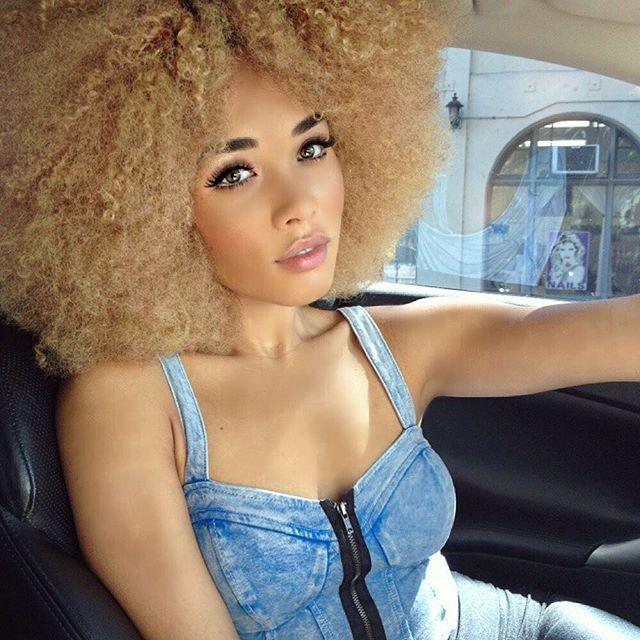 Can I do a #tbt tho? Yes that's me with a blonde #Afro