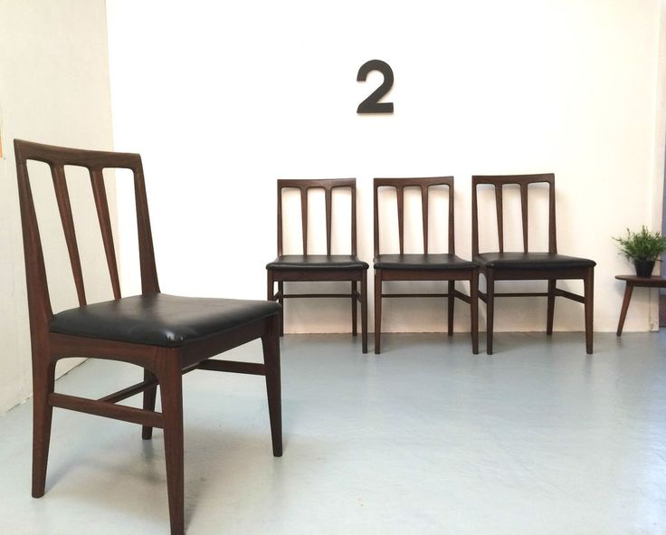 VINTAGE RETRO DINING CHAIRS 1960s SOLID WOOD RETRO  eBay