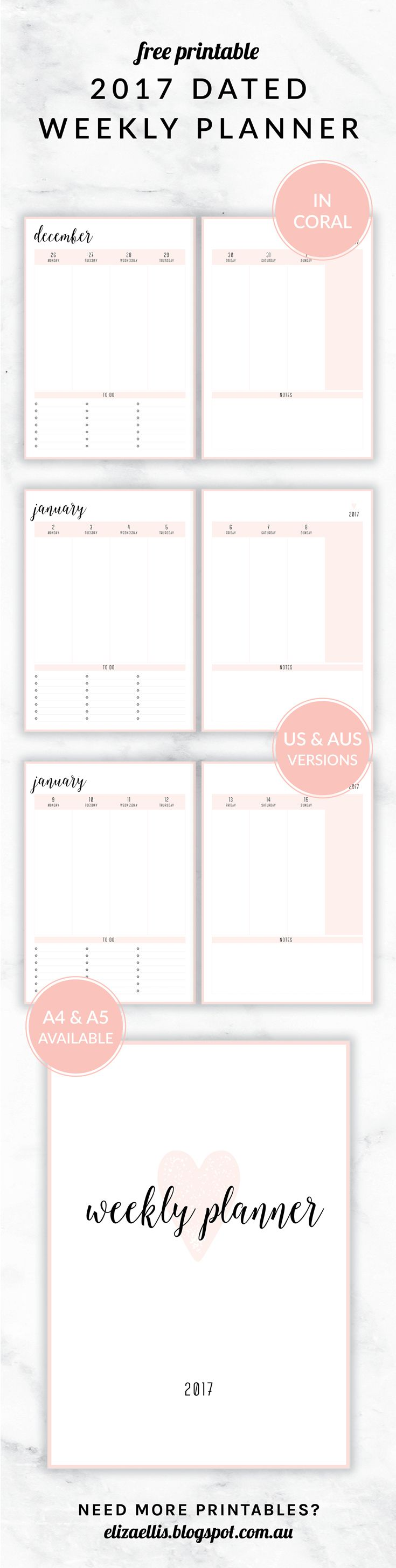 My Calendar Planner : Best ideas about weekly planner printable on pinterest